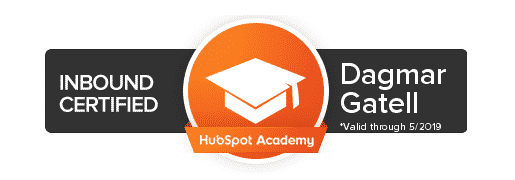 badge inbound certified hubspot academy for Dagmar Gatell