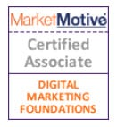 badge MarketMotive certified associate digital marketing foundations