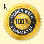symbol for 100 percent money back guarantee