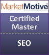 badge Dagmar Gatell, certified SEO master, MarketMotive