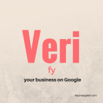 beige background with red and black lettering, helping you to figure out how to deal with a google verify your business issue