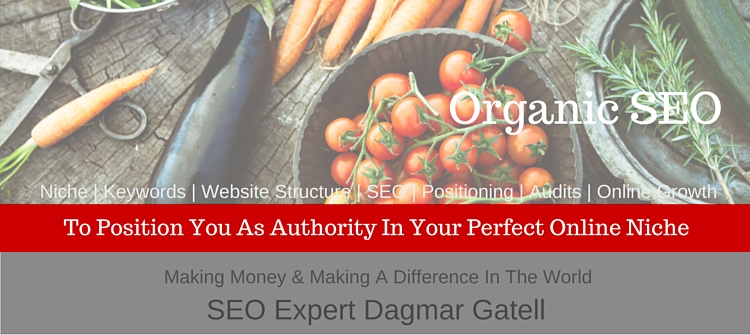 organic fruits and vegetables, symbolizing the benefit of using organic SEO strategies to grow traffic, gain ranking positions, and authority slowly but steady over time online