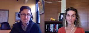 Andy Crestodina and Dagmar Gatell, talking about the value of SEO in inbound marketing